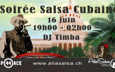 16 juin – Soirée salsa cubaine